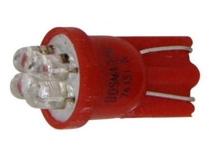 Led lamp rood 24V