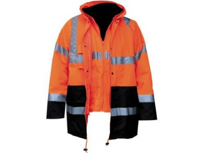 First Choice 4-1 Parka oranje/blauw